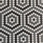 1 Inch Hexagon Gray Pattern Matt