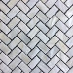 15x30mm White Herringbone