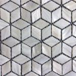 24x42mm White Rhombus
