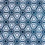 8 Inch Hexagon New Hex 11 Blue