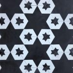 8 Inch Hexagon Star 15 Black White