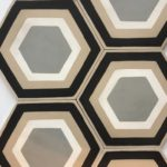 8X8 Beige Hexagon