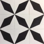 8X8 Large Star Black White