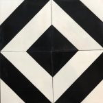 8X8 Zebra Black White