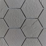 Ash Gray 3 Inch Hexagon 2X4 2X2 1X3