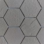 Ash Gray 3 Inch Hexagon 2X4 2X2 1X3