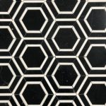 Border Hexagon Nero Marquina Thassos