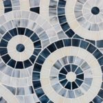 Stained Glass Blue Concentric Circles