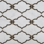 Clouds Statuary White Nero Marquina Brass
