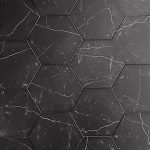 CT 10 Inch Hexagon Nero Marquina