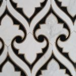 Damask Black White Brass