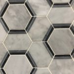 Hexagon Carrara Black Bardiglio