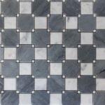 IM Checkboard Bardiglio - Carrara