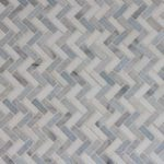 IM Mini Herringbone Thassos Carrara Blue Celeste