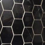 Long Hexagon Nero Marquina Polished