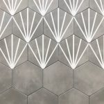 Meraki 8 Inch Hexagon Even Gris Base Gris