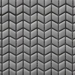 Mini Chevron Light Gray Mat