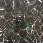 1'', 2'' Nero Marquina Hexagon