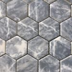 Recycled Glass Hexagon Bardiglio 2 Inch