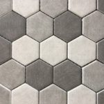 Recycled Glass Hexagon Gray Mix 2 Inch