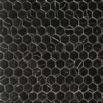 RG 1 Inch Hexagon Nero Marquina