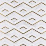 Squares Calacatta Gold Thassos Brass