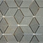 Steel Gray Diamond Cube 2X4 2X2 3 Inch Hexagon 1X3 Herringbone