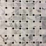 Basketweave Carrara Jet Black