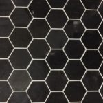 1'', 2'' Jet Black Polished Hexagon