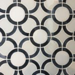 Stained Glass Dark Gray Circles