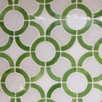 Stained Glass Green Circles