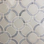 Stained Glass Light Gray Circles