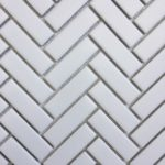 HP 1X3 Herringbone White Glass, Matt