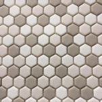1'' Hexagon Beige Mix