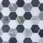 2 Inch Hexagon Thassos Bluette Bardiglio