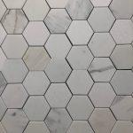 3 Inch Hexagon Calacatta Danby White