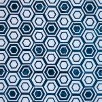 8 Inch Hexagon New Hex 11 Blue