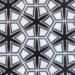 8 Inch Hexagon Selena Black