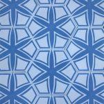 8 Inch Hexagon Selena Blue