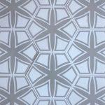 8 Inch Hexagon Selena Light Gray