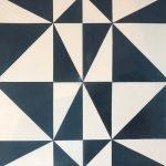 8X8 Aster Blue White