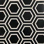 Border Hexagon Nero Marquina Thassos