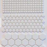 Enamel Glass White 5/8 X 5/8, 1'' Penny, 1'' Hexagon, 2'' Hexagon
