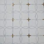 Full Moon Paper White Carrara Brass
