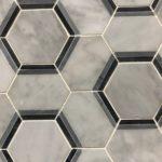 Hexagon Carrara Black Bardiglio