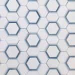 Hexagon Thassos Celeste Azul Macauba