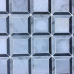 IM 3D Square Oriental White Carrara Bardiglio