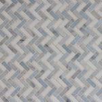 IM Mini Herringbone Thassos Carrara Blue Celeste