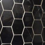 Long Hexagon Nero Marquina Polished