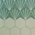 Meraki 8 Inch Hexagon Even Verde Base White